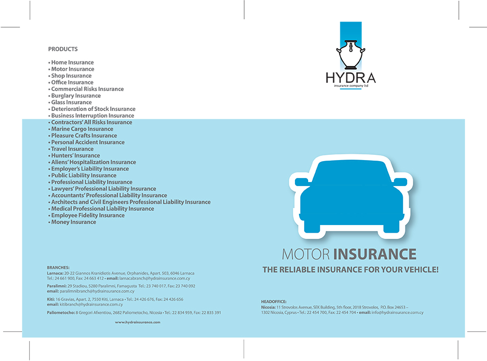 A4 MOTOR INSURANCE ENG FRONT
